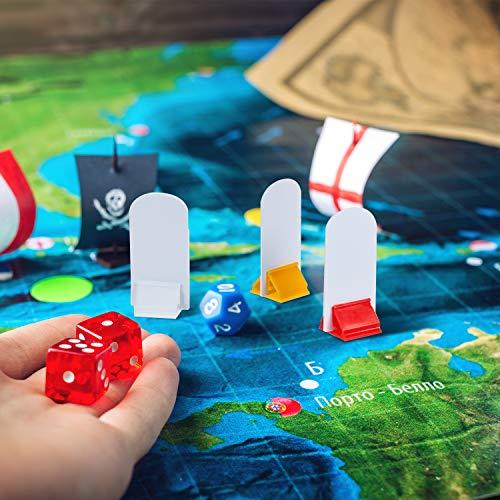 12 Piezas Soportes de Cartas de Juego Multicolor con 12 Piezas Marcadores de Tablero de Juego Blanco para Favor de Fiesta