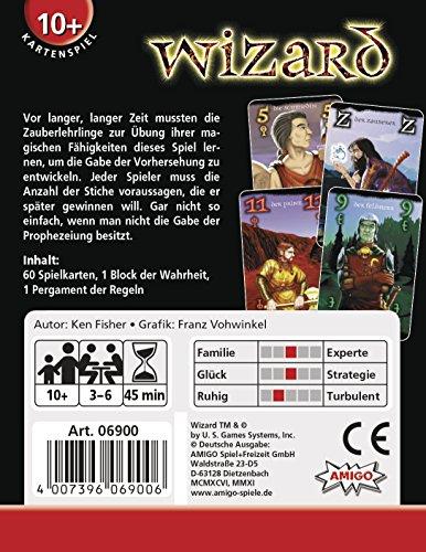 Amigo Spiele - Juego de Cartas Wizard, 3 hasta 6 Jugadores (6900) (versión en alemán)