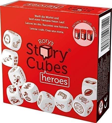 Asmodee Italia - Rory's Story Cubes Heroes El Juego de Mesa para Contar Historias, Color, 8087