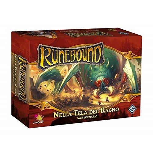 Asmodee Italia- Runebound expansión en Tela de araña Juego de Mesa con espléndidas miniaturas, Color, 9061
