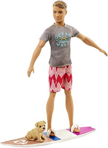 Barbie Aventura de los Delfines, muñeco ken surfero con accesorios (Mattel FBD71) , color/modelo surtido