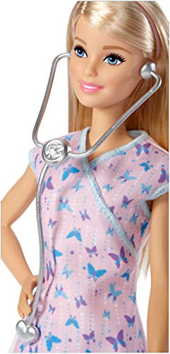 Barbie - Muñeca quiero ser - enfermera - muñeca - (Mattel DVF57)