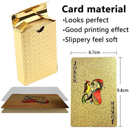 BETOY póker Naipes 2 Paquete Cartas de Poker Impermeables Cartas de póker de plástico Cartas magicas clásicas para niños y Adultos Mesa Juegos de Cartas(54 Piezas/Cubierta)