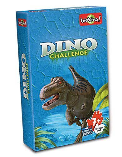 Bioviva- Juego de Cartas Dino Challenge, Color Azul (Asmodee DIN02)