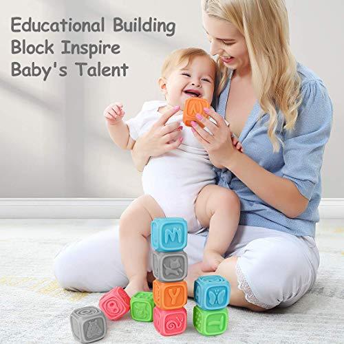 Bloques para bebés, Juguetes para Masticar la dentición Juguetes educativos para el baño del bebé Juegue con números, Formas, Animales, Insectos de la Letra N Durante 0-3 años