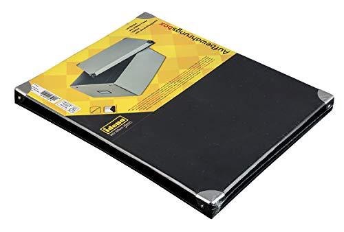 Caja de cartón rígido de Idena con tapa reforzada con metal, incluye campo de rotulación, aprox. 36 x 28 x 17 cm. , color, modelo surtido