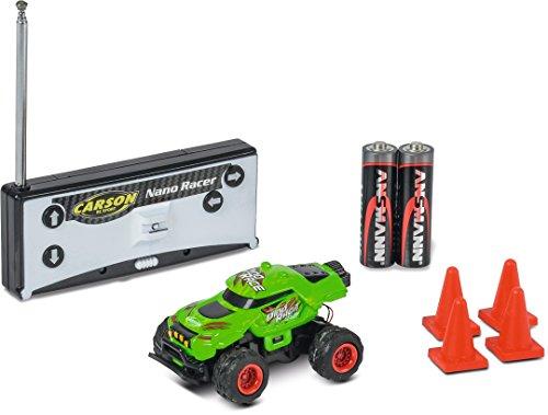 Carson- 1:60 Nano Racer Dino-Race 40 MHz 100% RTR, Color Verde (500404185)