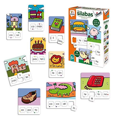 Diset- Aprendo 5 años Juguete educativos Las Silabas (68962)
