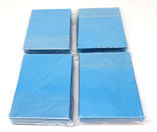 docsmagic.de 4 x 60 Mat Light Blue Card Sleeves Small Size 62 x 89 - Azul Claro - Mini Fundas - YGO