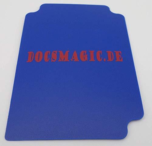 docsmagic.de 4 x Deck Box Full Blue + Card Divider - Caja Azul - PKM YGO MTG