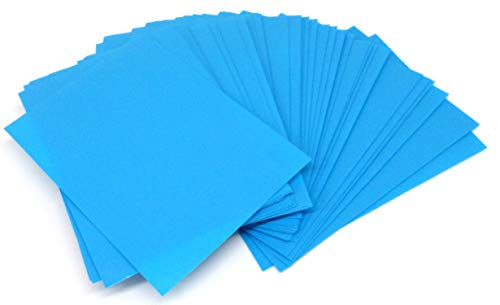 docsmagic.de 5 x 100 Mat Light Blue Card Sleeves Standard Size 66 x 91 - Azul Claro - Fundas - PKM MTG