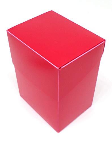 docsmagic.de 8 x Deck Box Full Red + Card Divider - Caja Roja - PKM YGO MTG