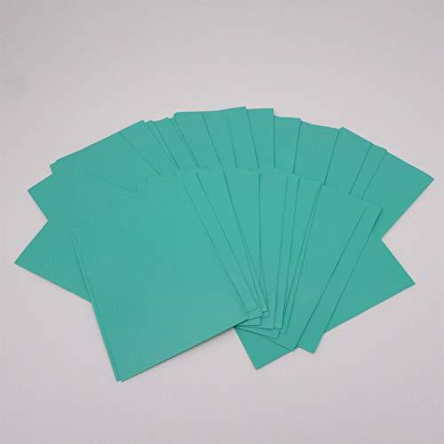 docsmagic.de Deck Box Full + 100 Double Mat Mint Sleeves Standard - Caja & Fundas Aqua - PKM MTG
