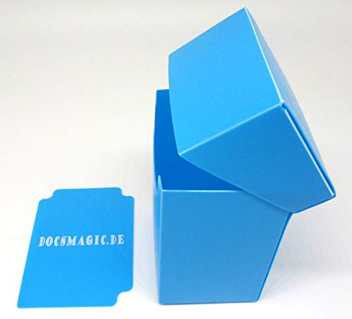 docsmagic.de Deck Box Full Light Blue + Card Divider - Caja Azul Claro - PKM YGO MTG