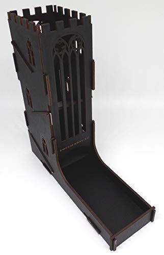 docsmagic.de Dice Tower Black Castle - Torre de Dados Negra Castillo