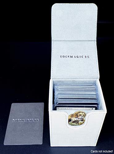 docsmagic.de Premium Magnetic Flip Box (80) White + Deck Divider - MTG PKM YGO - Caja Blanco