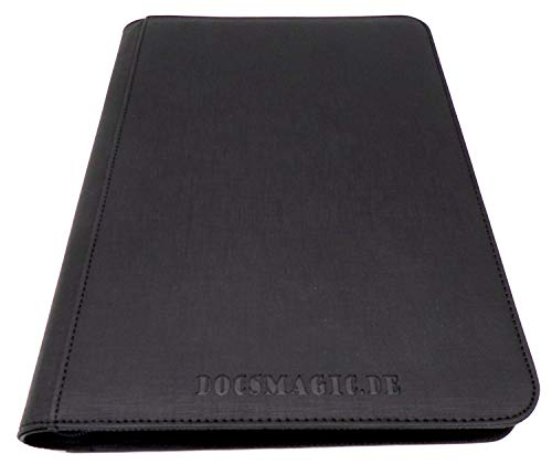 docsmagic.de Premium Pro-Player 9-Pocket Zip-Album Black - 360 Card Binder - MTG - PKM - YGO - Cremallera Negra