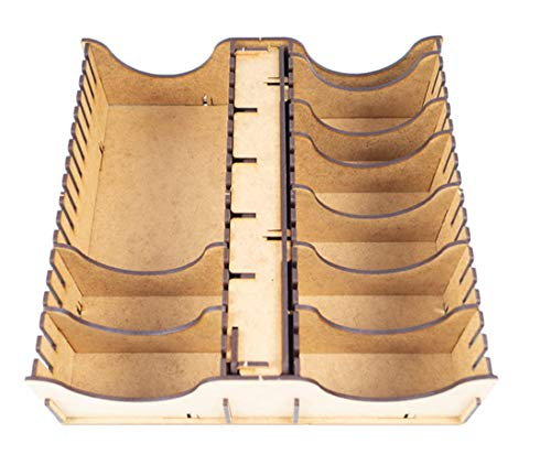 docsmagic.de Sleeved Card Game LCG Organizer Insert for Small Box 25 x 25 cm - Encarte