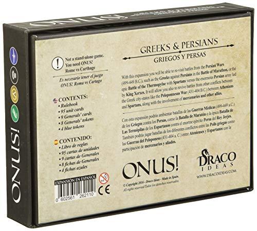 Draco Ideas Ideas-602561262110 Onus Expansion: Griegos y Persas (Español), Multicolor (BGONUSGP)