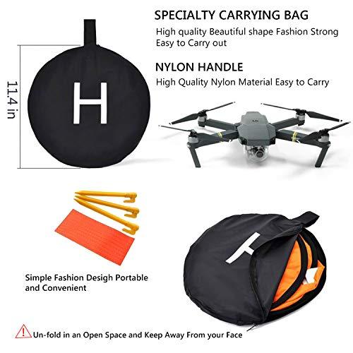 Drone Landing Pad, WisFox Universal Waterproof D 75 cm / 30 '' Pads portátiles de aterrizaje plegables para RC Drones Helicopter, PVB Drones, DJI Mavic Pro Phantom 2/3/4 Pro, Antel Robotic