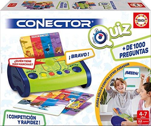 Educa Borrás- Conector Quizz, Juego Preguntas-respuestas electrónico (17437)