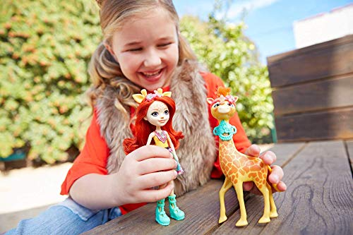 Enchantimals Muñeca con mascota Gillian Giraffe (Mattel FKY74) , color/modelo surtido