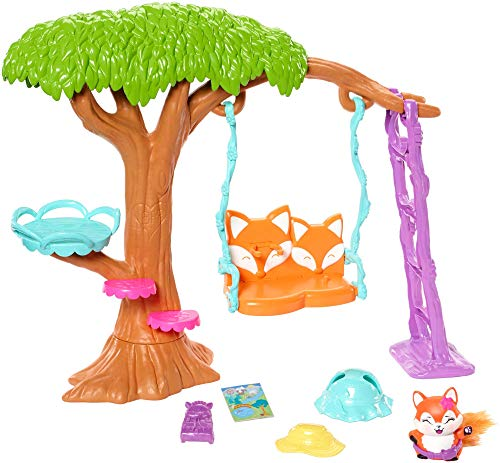 Enchantimals - Muñeca Felicity Fox con mascota Flix en jardín divertido - (Mattel FRH45)