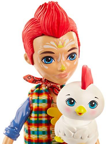 Enchantimals Muñeca Redward Rooster con mascota Cluck (Mattel GJX39)