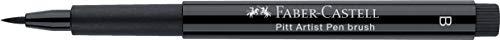 Faber-Castell 167132 - Pack de 4 rotuladores para dibujo Manga Black Set, puntas de diferentes grosores, color negro