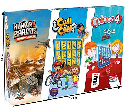 Falomir Coloca 4 + Hundir los Barcos Cuál (Pack mesa. Juegos Clásicos. (32-11545) , color/modelo surtido