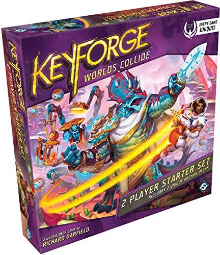 Fantasy Flight Games FFGKF07 KeyForge: Worlds Collide juego para principiantes de 2 jugadores, colores variados , color/modelo surtido