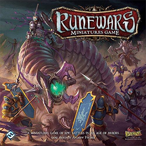 Fantasy Flight Games Juego Marca RUNEWARS de Mesa Guerreros en Miniatura