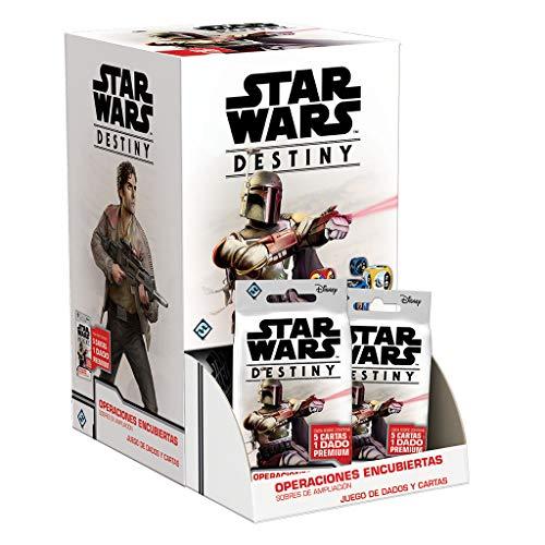 Fantasy Flight Games- Star Wars Destiny - Display 36 Unidades de: Operaciones encubiertas: Sobres de ampliación, Color (SWD19ESD)