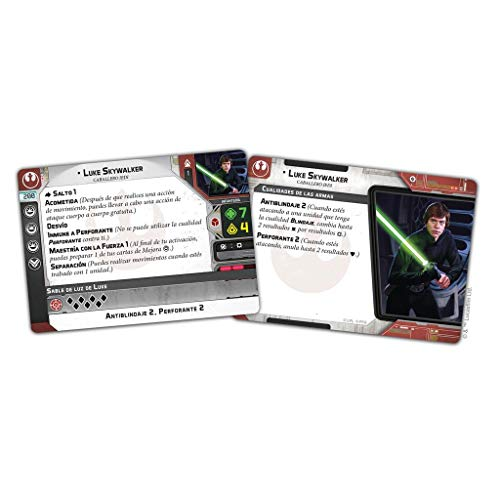 Fantasy Flight Games- Star Wars Legion - Luke Skywalker Expansión de Agente, Color (SWL56ES)