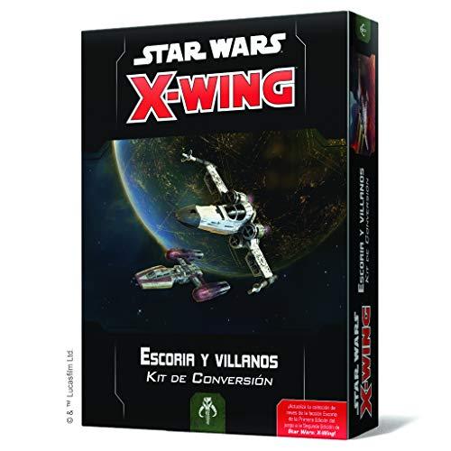 Fantasy Flight Games- SW X-Wing 2.0 - Escoria y Villanos: Kit de Conversión - Español, Multicolor (SWZ08ES)