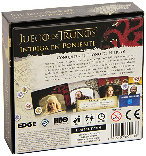 Fantasy Flight Games Tronos Juego de Cartas, Color (Edge Entertainment FFHBO08)