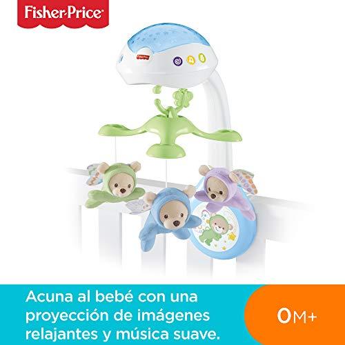 Fisher-Price - Móvil con ositos - juguetes bebe - (Mattel CDN41)