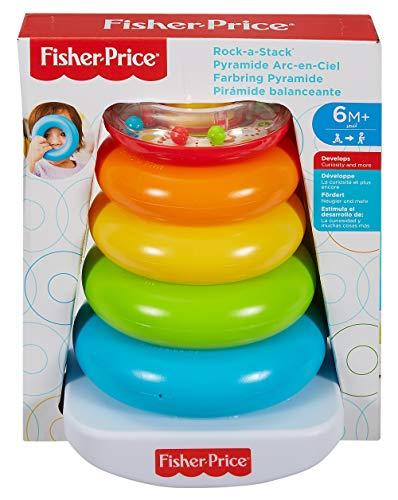 Fisher-Price - Pirámide balanceante - juguetes bebe 6 meses - (Mattel FHC92)