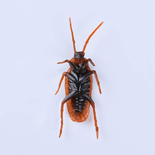 Flushzing Insectos Scary Día de Choque de 10pcs simulación Artificial Cucaracha Tricky Broma de Halloween Juguetes Inocentes