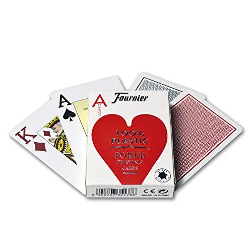 Fournier 1028935 Baraja de Poker Profesional, 100% Plástico, Modelos/colores surtidos