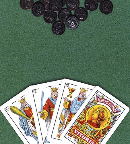 Fournier- Nº 1-40 Cartas Set de baraja Española y tapete con Reglamento de Mus y Tute, Multicolor (F36790) , color/modelo surtido