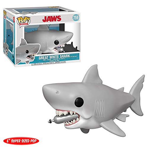 "Funko- Pop Vinilo 6"" Jaws w/Diving Tank Figura Coleccionable, Multicolor, Estándar (38567)"