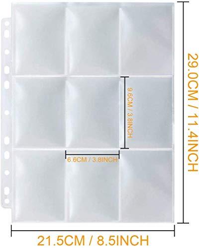Funmo Fundas para Cartas Protector Tarjetas de Comercio Carpeta en Blanco Plástico Mangas Páginas Accesorios Colección de álbumes Almacenamiento Pokémon Tarjetas Juego 30 Hojas (270 Bolsillos)