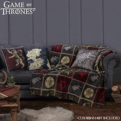 Game Of Thrones Juego de Tronos Regalos Merchandise Got Manta Super Suave para Cama Stark Lannister Targaryen Greyjoy Baratheon Tyrell Gran Casa Símbolos Westeros