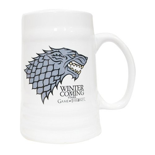 Game of Thrones SDTSDT27362 - Jarra cerámica con diseño Winter Is Coming Stark (SD Toys SDTSDT27362) - Jarra Cerámica Winter is Coming Stark