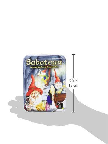 GIGAMIC AMSABO Saboteur - Juego de Cartas (versión Francesa, Idioma español no garantizado)