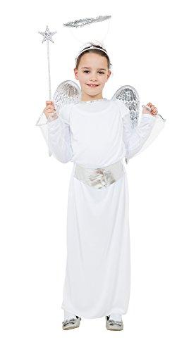 GIRLS ANGEL COSTUME AGE 11-13 BR (disfraz)