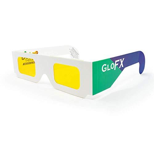 GloFX - Juego de 5 vasos de papel para terapia de chakras, cromoterapia