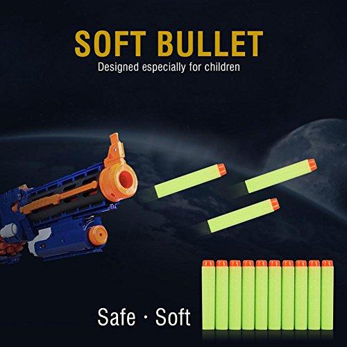 GLOGLOW 10 Piezas de Recarga de Dardos Paquete de munición de Espuma de Bala para Nerf N-Strike Elite Zombie Strike Rebelle de Serie Blaster Paquete de Recarga de Pistola de Juguete- Verde