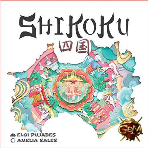 GM Games- Shikoku Juego de Cartas con Tablero, Color Blanco (GDM Games GDM128)